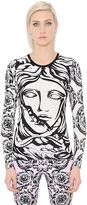 Versace Printed Stretch Cotton Jersey Top