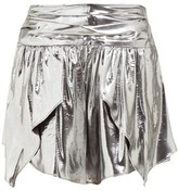 Isabel Marant Kira Metallic Silk-blend Mini Skirt - Womens - Silver