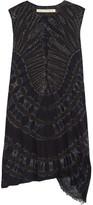 Raquel Allegra Tie-dyed Stretch Cotton-blend Jersey Mini Dress - Black