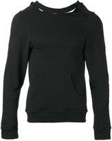 Dust - split-open back sweatshirt - unisex - Cotton - M