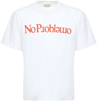 Aries No Problemo Print Cotton T-Shirt