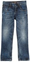 Roberto Cavalli Splattered Washed Stretch Denim Jeans