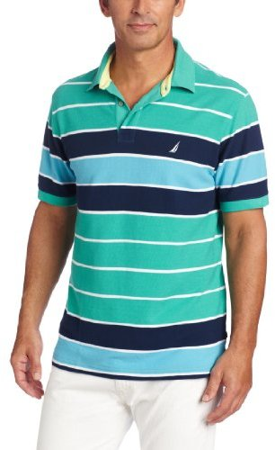 Nautica Men's Big-Tall Open Sea Stripe Polo Shirt