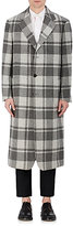 Thom Browne MEN'S WOOL MADRAS OVERCOAT