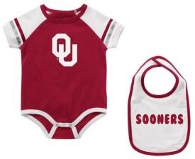 Colosseum Infant Oklahoma Sooners Onesie & Bib Set