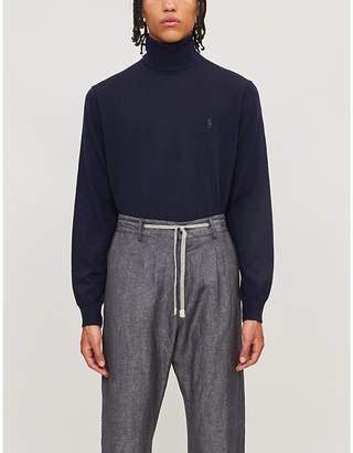 Polo Ralph Lauren Logo-embroidered wool turtleneck jumper