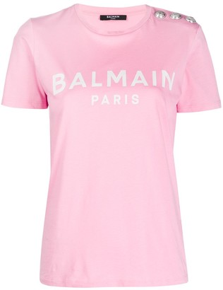 Balmain logo button T-shirt