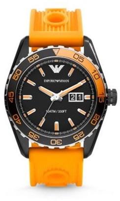 Emporio Armani Men's AR6046 'Sportivo' Orange Silicone Watch
