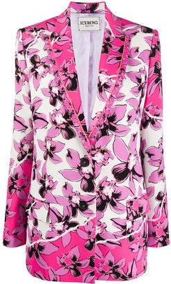 Iceberg Floral-Print Single-Breasted Blazer