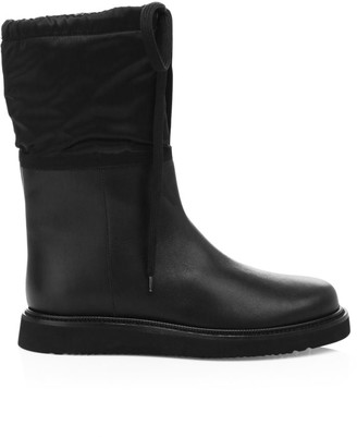 Aquatalia Camillia Shearling-Lined Leather Boots