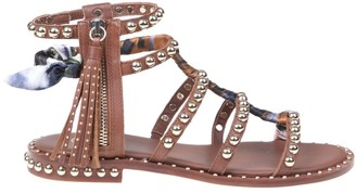 Ash Pareo Leather Sandal With Studs