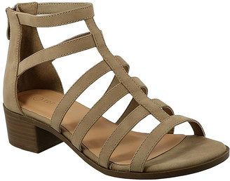 Top Moda Women's Sandals KHAKI - Khaki Favor Gladiator Sandal - Women