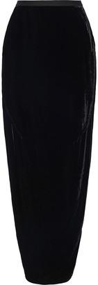 Rick Owens Dirt Velvet Maxi Skirt