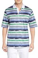 Bugatchi Men's Brushstroke Stripe Polo