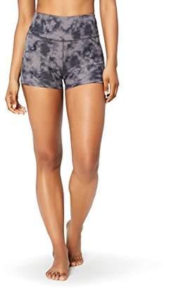 Core 10 Women's High Waist Yoga Shorts, Grey (), Small