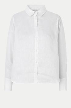 Just Female White Linen Linneda Shirt - white linen | M . - White linen