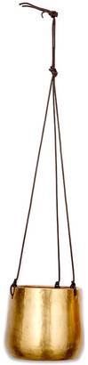 Nkuku Atsu Hanging Planter - Antique Brass - Large