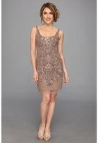 Adrianna Papell Short Bead Tank Dress (Buff) - Apparel