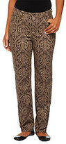 Denim & Co. As Is Brocade Print Stretch Twill Pants