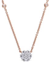 Rina Limor Fine Jewelry 14K Rose Gold & 0.33 Total Ct. Diamond Necklace