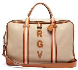 Anya Hindmarch Walton Customisable Canvas Travel Bag - Womens - Tan Multi