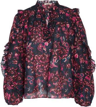 Ulla Johnson Rana Tie-Neck Floral-Print Cotton-Blend Blouse