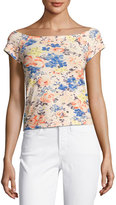 Rebecca Taylor Gigi Off-The-Shoulder Floral-Print Top, Multicolor