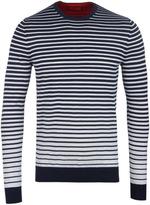 Hugo Sfade Navy Striped Sweater