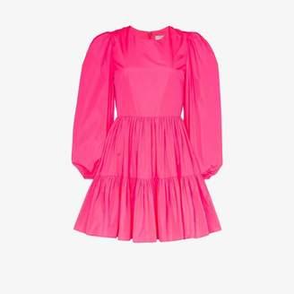 Valentino tiered taffeta mini dress
