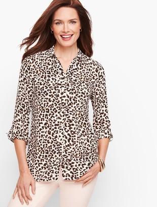 Talbots Leopard Print Soft Shirt