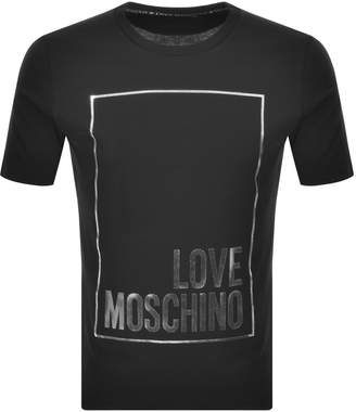 Moschino Love Box Logo T Shirt Black
