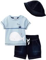 Absorba Tee, Short, & Hat Set (Baby Boys)