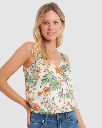 Forcast Women's Evening Tops - Gia Floral Print Sleeveless Top - Size One Size, 10 at The Iconic