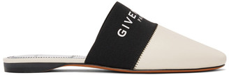 Givenchy Off-White Logo Flat Mules