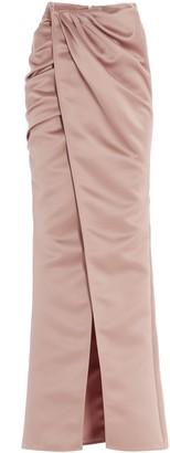Elisabetta Franchi Draped Maxi Skirt