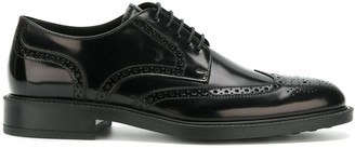 Tod's almond toe brogues
