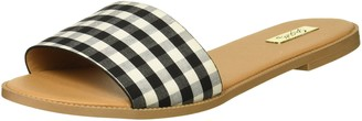 Qupid Women's Slide in Sandal Flat
