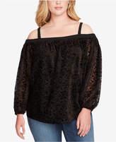 Jessica Simpson Trendy Plus Size Trisha Off-The-Shoulder Top