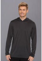 Nike Dri-Fit Touch Long-Sleeve Hoodie (Anthracite/Dark Grey Heather/Black) Men's Long Sleeve Pullover
