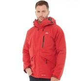 Trespass Mens Corvo Hooded Waterproof Shell Jacket Red
