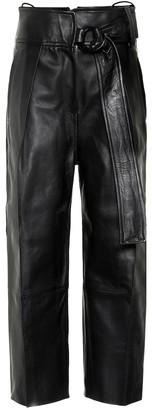 Petar Petrov Haena high-rise leather pants