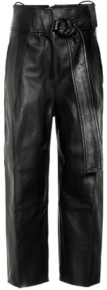 Petar Petrov Haena high-rise leather pants