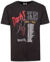 Topman Washed Black Spliced Band T-Shirt