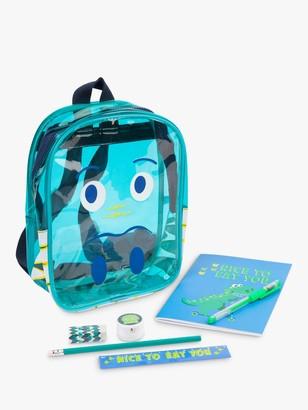 Sunnylife Children's Dinosaur Stationery Backpack, Blue