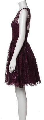 Alice + Olivia Scoop Neck Mini Dress Purple