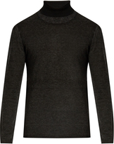 John Varvatos Roll-neck silk and cashmere-blend sweater