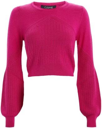 Cushnie Crewneck Silk-Wool Sweater