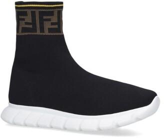 Fendi Kids Ff Pull-On Sneakers