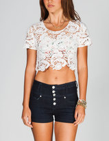 Full Tilt Womens Crochet Crop Top