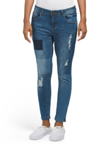 Destructed Patched Skinny Jeans